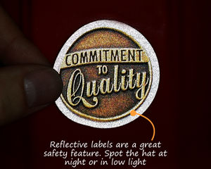 Reflective hard hat sticker
