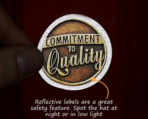 Reflective hard hat sticker