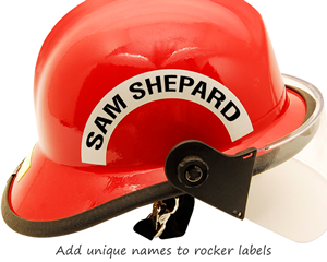 Rocker label with your name