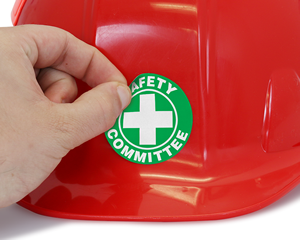 Safety committee hard hat sticker