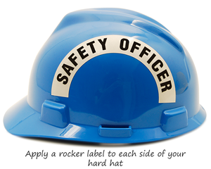 Safety officer hard hat stickers