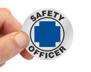 Safety Officer Helmet Sticker