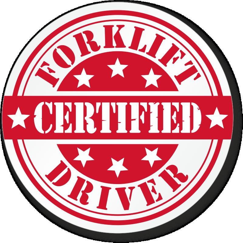 Forklift Driver Hard Hat Stickers