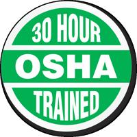 30 Hour OSHA Trained Hard Hat Decals