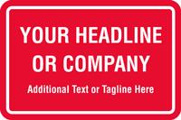 Add Headline Or Company Name Custom Hard Hat Decal