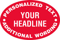 Add Headline With Personalized Text Custom Hard Hat Decal