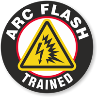 Arc Flash Trained Hard Hat Decals