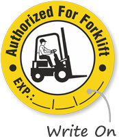 Authorized For Forklift Hard Hat Decals