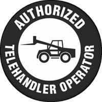 Authorized Telehandler Operator Hard Hat Decals