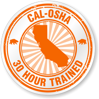 CAL-OSHA 30 Hour Trained Hard Hat Decals