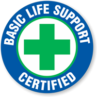 Certified Basic Life Support Hard Hat Decals