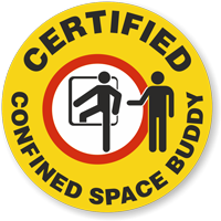 Certified Confined Space Buddy Hard Hat Decals
