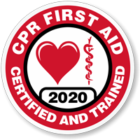 CERTIFIED CPR FIRST AID TRAINED Hard HAT DECAL