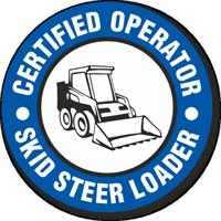 Certified Operator Skid Steer Loader Hard Hat Decals