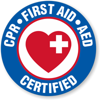 CPR First Aid AED Certified Hard Hat Decals