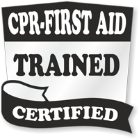 CPR-First Aid Trained Certified Hard Hat Decals