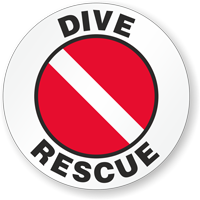 Dive Rescue Hard Hat Stickers
