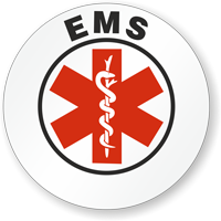 EMS Hard Hat Stickers