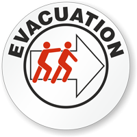 Evacuation Hard Hat Stickers