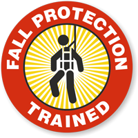 Fall Protection Trained Hard Hat Decals