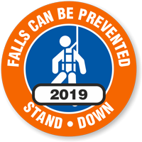 Falls Can Be Prevented Choose Year Hard Hat Decals