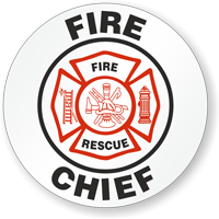 Fire Chief Hard Hat Stickers