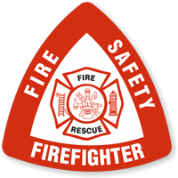 Fire Safety Firefighter Fire Recue Hard Hat Decals