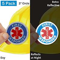 First Responder Hard Hat Label