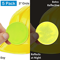 Fluorescent Lime Yellow Retro Reflective Hard Hat Label