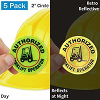 Authorized Fork Lift Operator Hard Hat Label