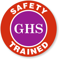 GHS Safety Trained Hard Hat Decals