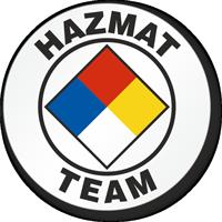 Hazmat Team Hard Hat Stickers