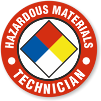 Hazardous Material Technician Hard Hat Decals