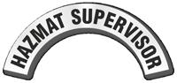 Hazmat Supervisor Reflective Hard Hat Rocker