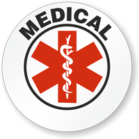 Medical Hard Hat Stickers