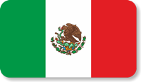 Mexico Flag Hard Hat Decals