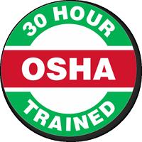 OSHA 30 Hour Trained Hard Hat Decals