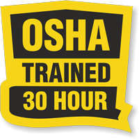 OSHA Trained 30 Hour Hard Hat Decals
