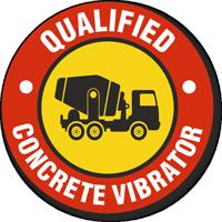 Qualified Concrete Vibrator Hard Hat Decals