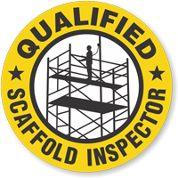 Qualified Scaffold Inspector Hard Hat Sticker