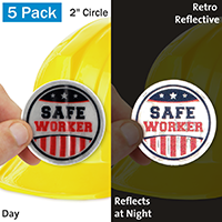 Safe Worker Hard Hat Label