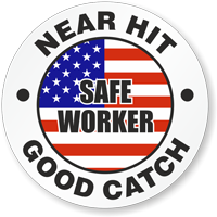 Safe Worker Near Hit Good Catch Hard Hat Decals