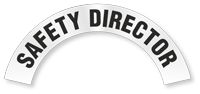 Safety Director Reflective Hard Hat Rocker