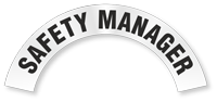 Safety Manager Reflective Hard Hat Rocker