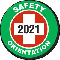 Safety Orientation Choose Year Hard Hat Decals