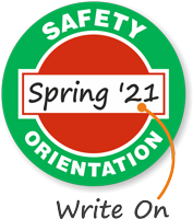 Safety Orientation Write-On Hard Hat Decals
