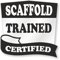 Scaffold OSHA Certified Hard Hat Decals