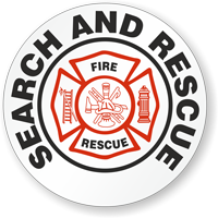 Search And Rescue Hard Hat Stickers