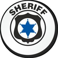 Sheriff Hard Hat Stickers