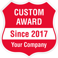 Add Award Name And Year Custom Hard Hat Decal